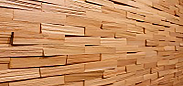 3D панели для стен из дерева