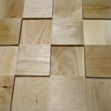 Деревянная 3Д мозаика Шашки Береза