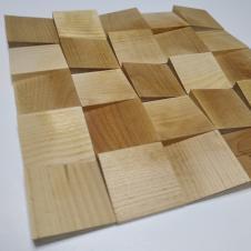 Деревянная 3Д мозаика Волна Макси Береза