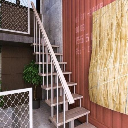 Модульная малогабаритная лестница Линия (прямая)
