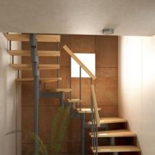 Модульная лестница Спринт (с поворотом на 180° забежная) шаг 180