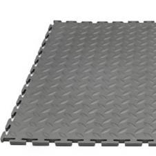 Модульная плитка ПВХ 250х250х5 мм черный, темно-серый