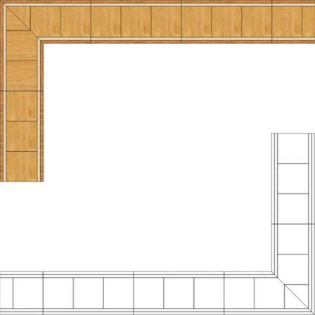 Бордюр художественный паркетный Б29 (дуб РС, клен, мербау) 100мм
