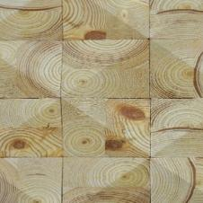 Деревянная плитка торцевая из клееного бруса, покрытие Wolman/масло