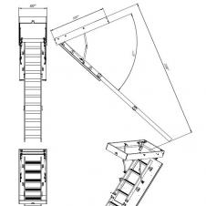 Комбинированная чердачная лестница ЧЛ-03