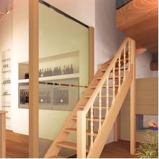 Деревянная универсальная лестница Лес-715 (поворот 90°)